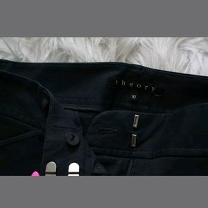 Theory Navy Blue Woman's Cropped Fress Pants